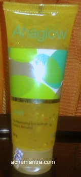 AHAGlow Face Wash Gel review (yellow tube)