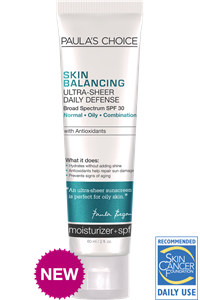 Review Paula's Choice Skin Balancing Ultra-Sheer Daily Defense Broad Spectrum SPF 30