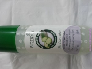 review Bio Cucumber  toner for acne pimples