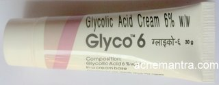 Glyco 6 Glycolic Acid Cream In India For Acne Scars Pimple Marks