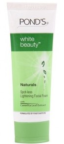 ponds-white-beauty-naturals-spot-less-lightening-facial-foam